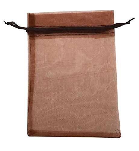 Brown Organza Bags (SUNGULF 50pcs Organza Pouch Bag Drawstring 5