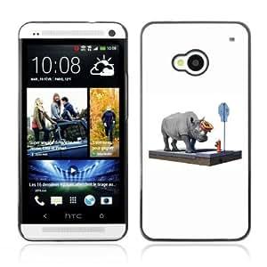 YOYOSHOP [Funny Rhino On The Street] HTC One M7 Case by icecream design