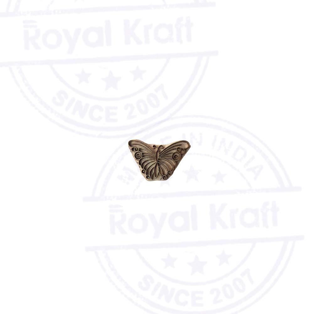 Royal Kraft Creativo Legno Timbri Ottone Farfalla Forma Ceramiche Stampa Blocchi