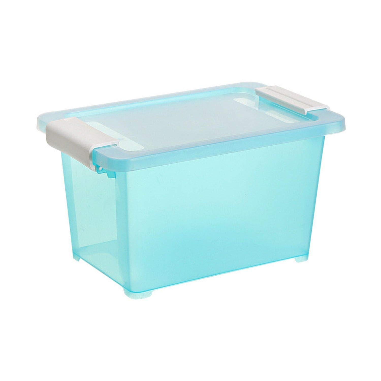 Collocation-Online Multifunction Plastic Home Storage Box Stationery Laundry Toys Fold Picnic Pouch Storage Box,Blue