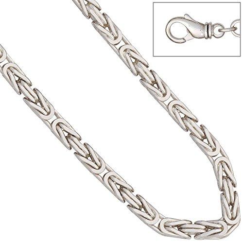 JOBO königsarmband en argent sterling 925 rhodié/21 cm-bracelet et fermoir