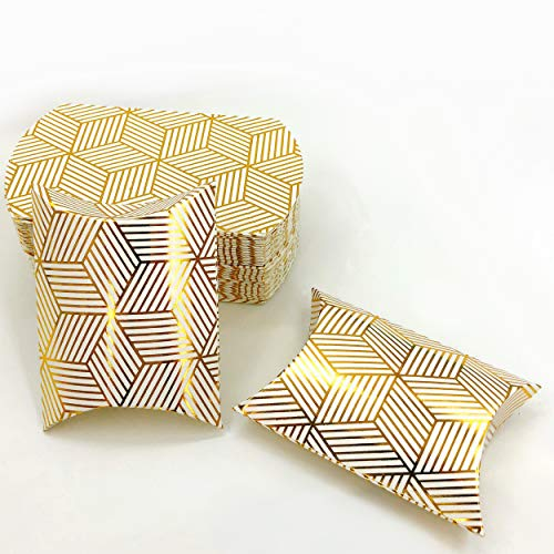Small Gold Party Favors Boxes Candy Treat Boxes Bulk Gift Boxes Baby Shower Wedding Bridal Shower Birthday Party Boxes Supplies, 50pc]()
