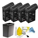 DJI Inspire 1 Black Edition Battery Bundle. Includes 4x TB48 Batteries (Black) + Battery Heater (Black) + eDigitalUSA Cleaning Kit
