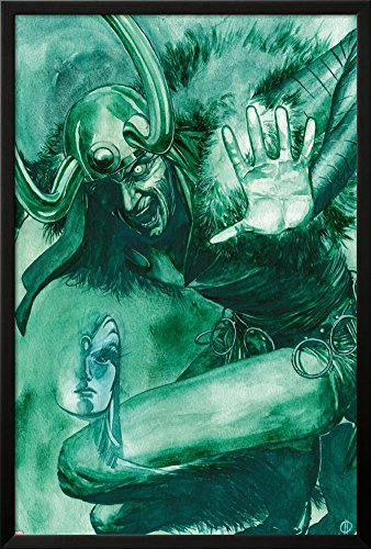 Bucky Barnes: The Winter Soldier #9 Featuring Loki, Ventolin Xtal Lamina Framed Poster
