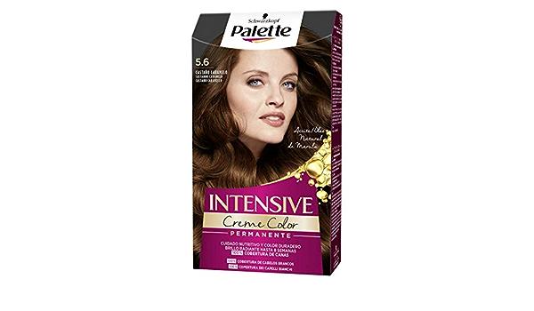 Schwarzkopf Palette Intensive Creme Color- Tono 5.6 cabello Castaño - Coloración Permanente de Cuidado con Aceite de Marula – Óptima cobertura de ...
