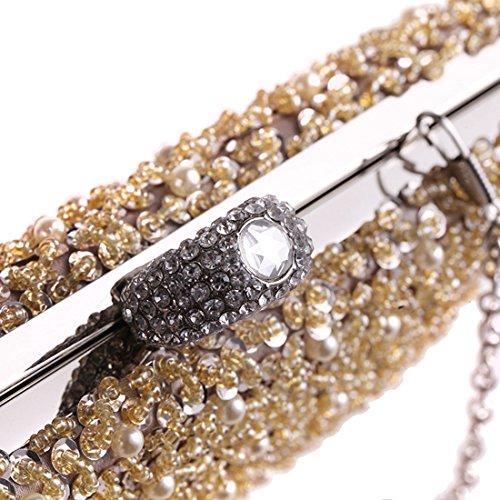 Tarde De Monedero Noche Gold Uzanesx Del Lujo Las Gold Embrague color Mujeres Bolso Vestido S45zqnwUvx