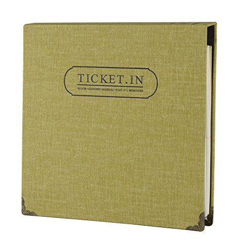 "FaCraft Ticket Stub Album with 120 3x6"" Pockets for Storing Sports,Movie,Concert Tickets (Yellow)"