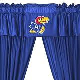 NCAA Kansas Jayhawks 5pc Long Curtain-Drapes Valance Set