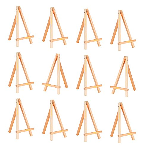 eBoot 12 Pack Mini Wood Display Easel (6.25 Inch)