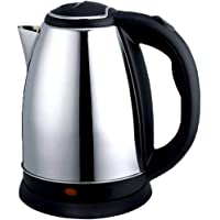 Zarome Stainless Steel Cordless Automatic Electric Kettle with Lid (1.8 L 1500 W, Black)