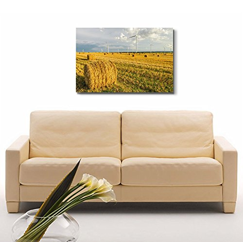 Windmill on The Field in Summer Wall Decor