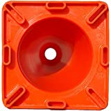 Workoutz Heavy Duty Orange Rubber Cones (6 Qty) for Sport Safety Racing Traffic