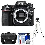 Nikon D7500 Wi-Fi 4K Digital SLR Camera Body with Case + Tripod + Kit (Certified Refurbished)