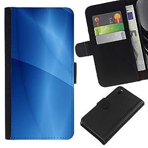 EJOY---La carpeta del tirón la caja de cuero de alta calidad de la PU Caso protector / Sony Xperia Z3 D6603 / --Patrón Ubuntu Líneas de Agua