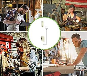 LED Iluminaci/ón de trabajo taller Bonlux 2W 30 LEDs 200LM Luz Regulable L/ámpara Flexible LED para M/áquina de Coser trabajos artesanales o manuales Luz Fr/ía 6000K, Con EU Enchufe