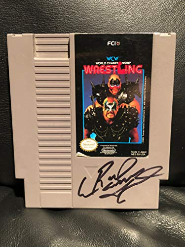 Signed Autographed Road Warriors Animal NES Nintendo Video Game WCW World Championship Wrestling, Legion Of Doom, WWE, WWF, WCW, NWA, NWO