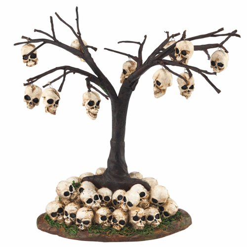 Department 56 Halloween Village Skull Tree, 6.3