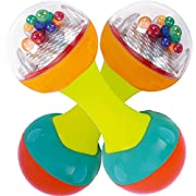 Set of Two Baby Rattles - Maracas for Kids - Educational and Developmental Dumbbell Rattle - Sensory and Cognitive Toys for Babies - Newborn Teethers and Musical Shaker - Toy for Baby Gym and Playmats