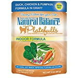 Natural Balance Platefulls Indoor Duck, Chicken & Pumpkin Formula in Gravy Cat Food, 3-ounce, pack of 24