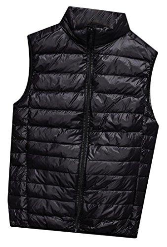 Zip Quilted Winter Warm Waistcoat EKU Puffer Black Men's Up Jackets Vest Packable wFE11nUq8
