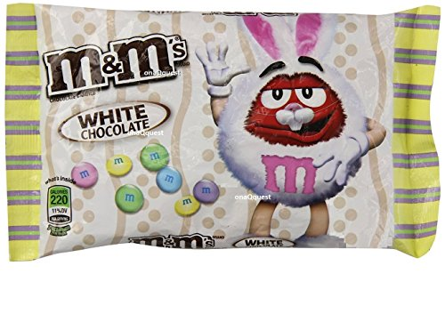 Chocolate White Filling (M&M's White Chocolate Easter Candy 8oz (226.8g) Seasonal Limited Edition. Perfect for Baskets and Filling Eggs with Treats)