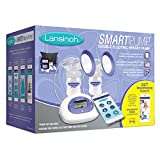 Lansinoh Smartpump Double Electric Breast Pump, with Bluetooth Technology, Hygienic Closed System, Customizable Pumping Styles and Bonus Lansinoh Helpline Subscription
