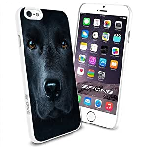 Black Labrador Dog Apple Smartphone iPhone 6 4.7 inch Case Cover Collector TPU Soft White Hard Cases by runtopwell
