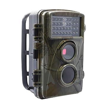 Trail Cámara 1080P 12MP HD Fauna Impermeable Cámara 65Ft Infrarrojos Visión Nocturna Gran Angular Caza Mini