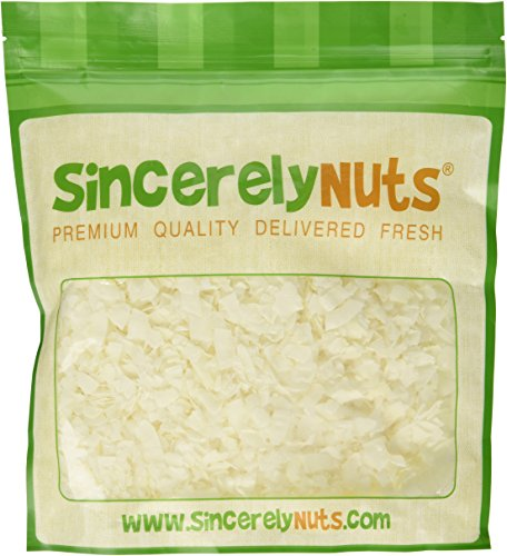 Sincerely Nuts Coconut Chips (Unsweetened) - One Lb. Bag - Bursting with Nutrients - Epitome of Deliciousness - Unbelievably Fresh - Kosher Certified