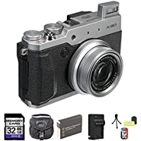 Fujifilm X30 12 MP Digital Camera with 3.0-Inch LCD (Silver) 32GB Bundle 2 Basic Intro Review Image