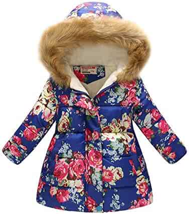 Infants Padded Toddlers Light Puffer Jacket for Baby Boys Girls IINFINE Winter Coats for Kids with Hoods