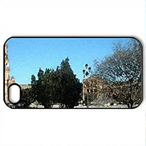 Sevilla street - Case Cover for iPhone 4 and 4s (Watercolor style, Black)
