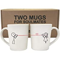 BOLDLOFT Say I Love You His and Hers Coffee Mugs-Couple Mugs Set, Romantic, Valentines Day, Anniversary,Wedding Gifts…