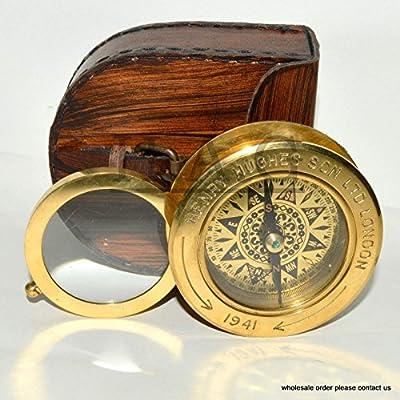 Hello Nauticals SXW342 - Caja de Regalo de latón con Tapa de Piel: Amazon.es: Hogar