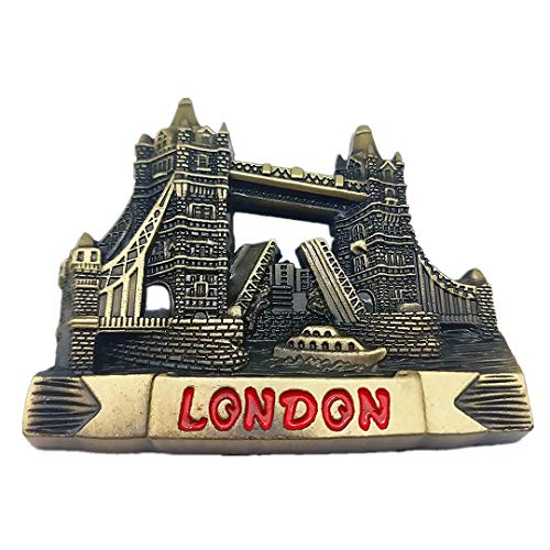 Tower Bridge London UK England 3D Refrigerator Fridge Magnet Travel City Souvenir Collection Kitchen Decoration White Board Sticker Metal