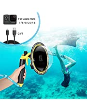 FEIMUOSI For GoPro Dome Port, Waterproof Housing for dome GoPro Hero, Waterproof Case for GoPro Accessories with Trigger Pistol and Floating Grip Underwater Photography.