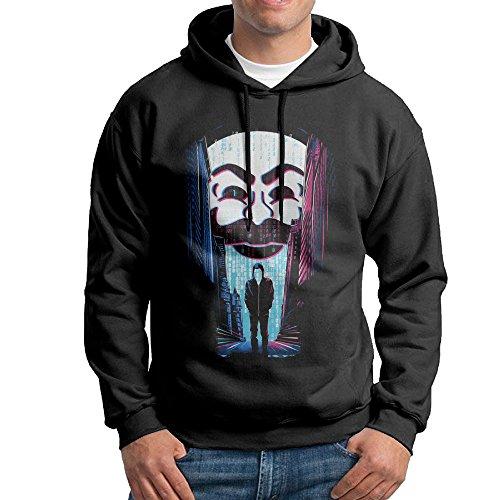 Curcy Mr. Robot A ONE OR A ZERO Hoodies Sweatshirt MenVisorSize XXL Black