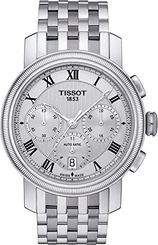 Tissot Bridgeport Silver Dial Stainless Steel Men's Watch T0974271103300