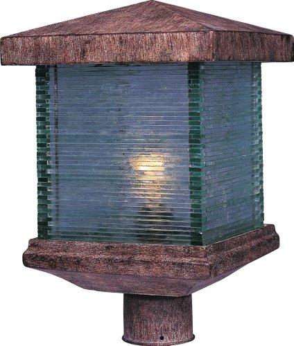 Maxim Lighting 48735CLET, Triumph VX 1 Light Outdoor Pole/Post Lantern, Earth Tone