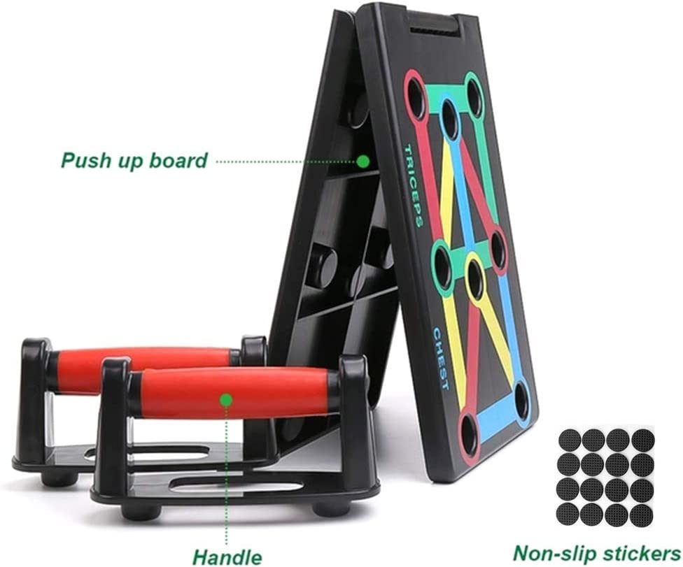 Haihuic Foldable 9 in 1 Push Up Rack Board Train Gym Fitness System Workout Exercise Stands for Body Training