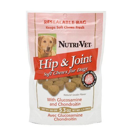 Nutri-Vet Hip and Joint Soft Chew, 5.3 Ounces, My Pet Supplies