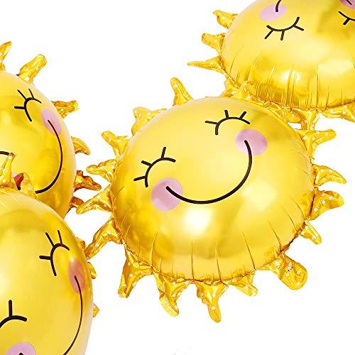 Birthday Balloon Foil Mylar Helium Balloon (Sun Smile)]()