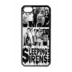 Gators Florida USA Music Band Series-7 Sleeping With Sirens Print Black Case With Hard Shell Cover for Apple iPhone 5C
