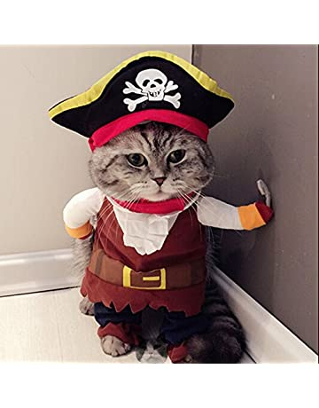 ba7b85159 Idepet Caribbean Pirate Cat Costume Funny Dog Pet Clothes Suit Corsair  Dressing up Party Apparel Clothing
