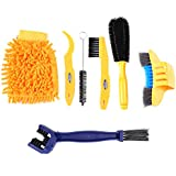 Weanas 7pcs Bike Cleaning Tools Set/Bicycle Brush Kit with Bike Chain Scrubber Suitable Mountain, Road, City