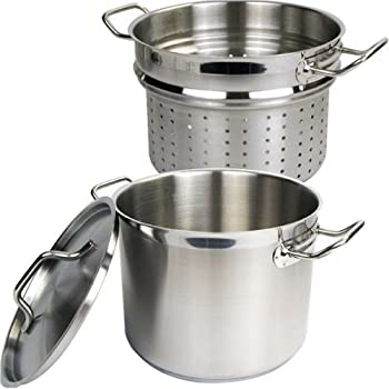 Winware Stainless 8 Quart Steamer Pasta Cooker With Cover