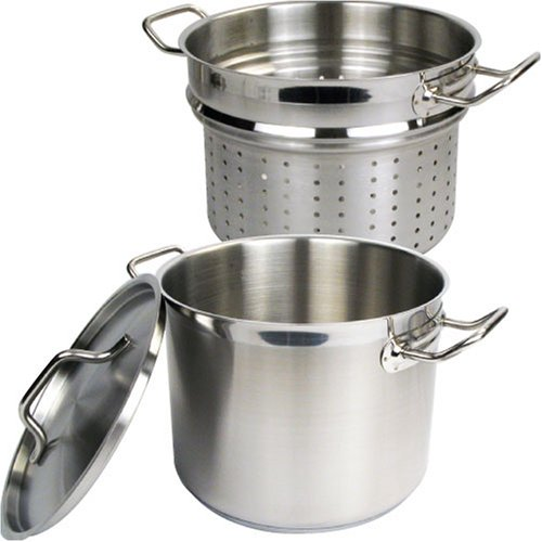 Winware Stainless 20 Quart Steamer/Pasta Cooker with Cover by Winware