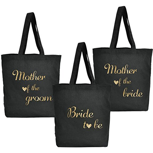 Script Coton Bag To De Honor The Mariage Bag Nuit bride Tote Gold 100 Demoiselle Toile Femmes D'honneur Noire Be Maid Fête Of Bride Mother Set Elegantpark groom Mariée 8qUBw0R