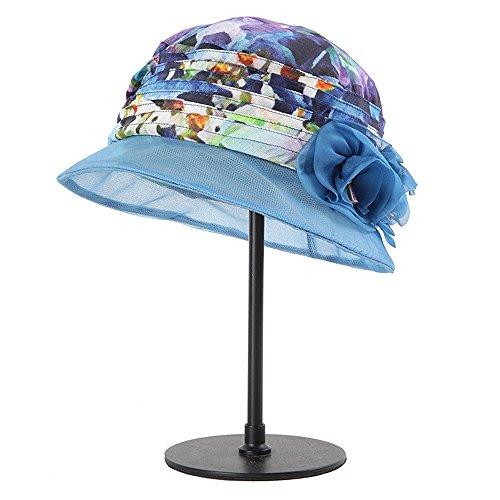 Azul color Seda Plegable Solar Coreano Mujer Grado Alto Xinguang Verano Ying Protector Negro Sombrero Para De qvUOTUwZtx