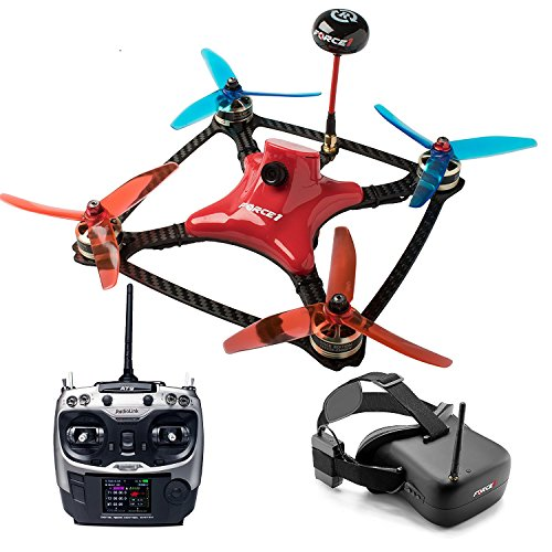 DYS FPV Racing Drone Kit – Drone with Camera Live Video VR Goggles at-9 Transmitter and SP F3 Flight Controller Quadcopter (Certified Refurbished)